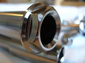 Buell titanium rear spindle head
