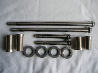 Kawasaki ZXR titanium engine mounting set