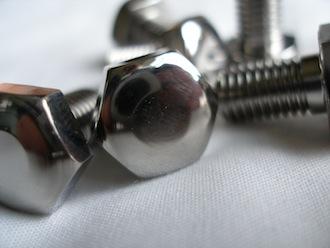 Titanium 5/16 BSF bolt heads