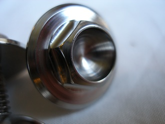 Montessa titanium kickstarter bolt head