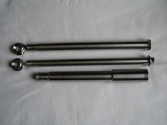 Titanium Montessa axle set
