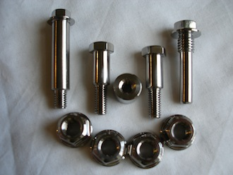 Montessa titanium nuts and bolts