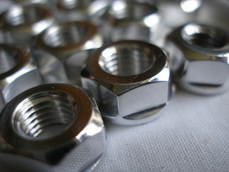 Triumph triple 7075 alloy 5/16 UNF nuts