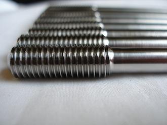 Ducati titanium cylinder head studs, crank case end