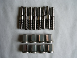 R1 titanium exhaust studs and 7075 alloy nuts