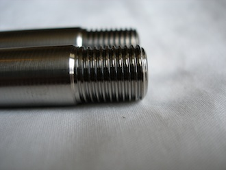 Matchless titanium M12x1.25 engine mounting stud thread
