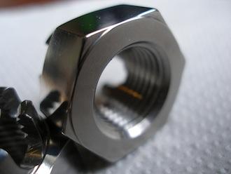 M16 titanium castle nut undercut