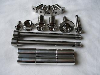 Titanium Buell fasteners