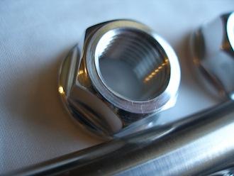 Triumph triple 7075 alloy swinging arm spindle nut, 9/16 UNF