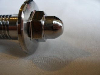 Lotus titanium door bolt head