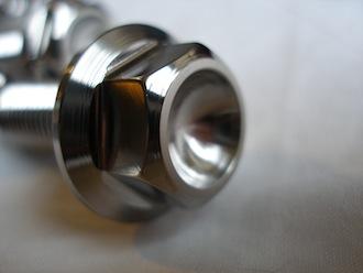 Lotus titanium M12 bolt head