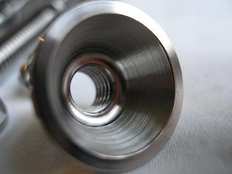 Lotus titanium M8 cone nut inside