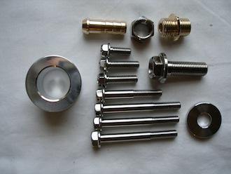 Honda titanium, brass and alloy parts