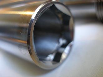 Suzuki Hyabusa titanium front wheel spindle head, 24mm A/F