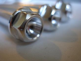 Triumph Triple 7075 alloy engine bolt heads
