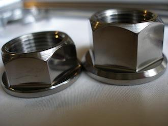 Honda Fireblade titanium wheel axle nuts