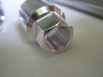 Ducati 7075 alloy engine mounting sleeve nut 14mm hex