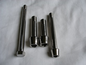 Titanium M10 & M12 suspension bolts, cap head and hex head