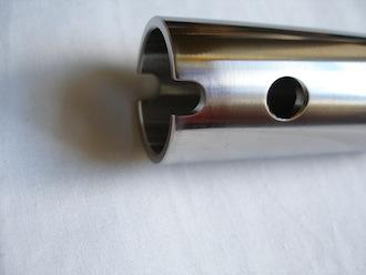 Ducati 916 titanium front wheel spindle fat end