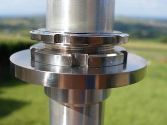 Honda SP2 steering head stem titanium collar nuts