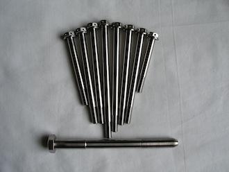 Titanium car bolts