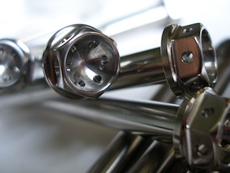 Titanium car bolt race spec head