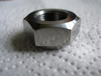 Titanium 5/8x20 tpi shouldered nut