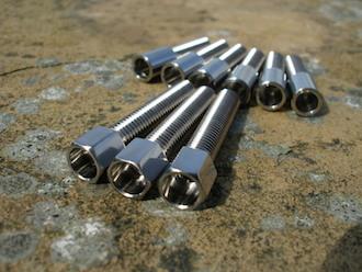 Suzuki GSXR titanium throttle cable adjusters