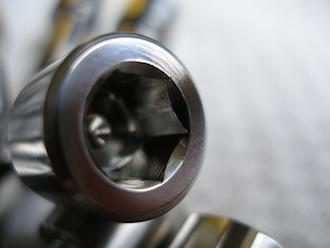 Titanium BST sprocket drive pin head, 8mm skt cap