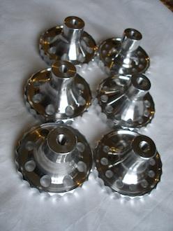 6082 alloy BSA Goldstar steering damper knobs underside