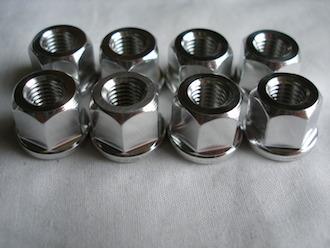 Triumph triple 7075 alloy 5/16 UNF nuts