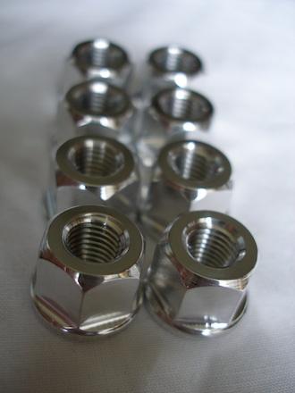 Triumph triple 5/16 UNF chain adjuster nuts