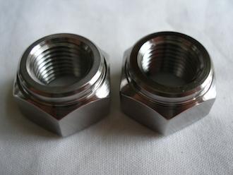 Lotus M12x1.25 titanium nuts