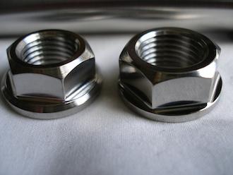 Montessa titanium axle nuts