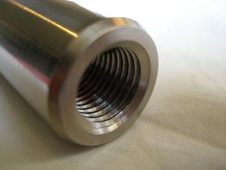 Honda SP2 titanium front wheel spindle M14x1.5 thread