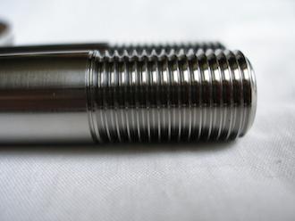 Triumph triple titanium swinging arm spindle 9/16 UNF thread