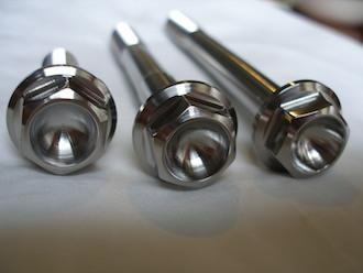 Lotus titanium bolt heads