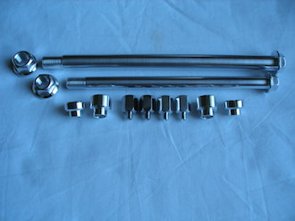 Honda TLR 7075 alloy axles and fittings