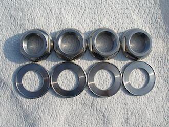 Ducati titanium rear wheel nuts and washers