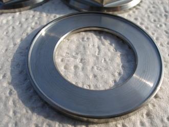 Ducati titanium countersunk rear wheel spindle nut washer