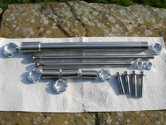 Hyabusa titanium s/arm, engine mounting and suspension bolt set