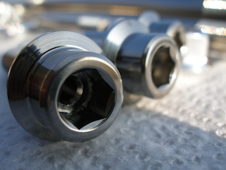 Hyabusa titanium engine mounting bolt head