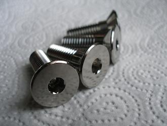 Titanium M10 c/s footrest hanger bolts
