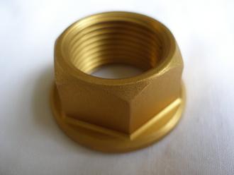 R1 gold anodised 7075 alloy rear axle nut