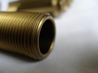 R1 gold anodised titanium rear axle bored hollow