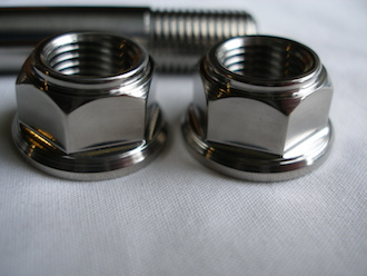 Kawasaki ZX7RR titanium engine mounting bolt nuts