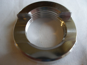 Kawasaki ZXR 7075 alloy engine mounting frame insert locking collar