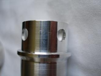 Triumph TR65 7075 alloy push rod tube top