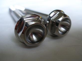 Titanium M8x70 bolt heads