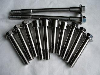 Montessa titanium engine mounting and suspension bolts